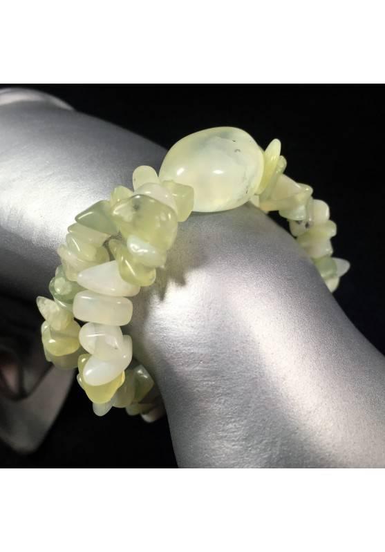 Bracelet in JADE Chips - Crystal Healing Minerals Zodiac: LIBRA GEMINI ARIES -1
