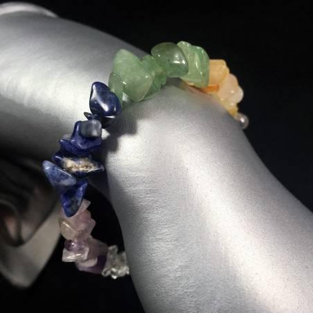 CARNELIAN AGATE Clear QUARTZ SODALITE Bracelet MINERALS Zen-1