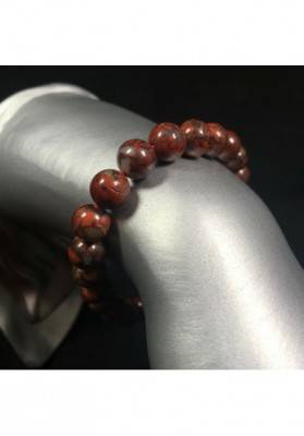 BRECCIATED RED JASPER Tibetan Mala Bracelet Elasticated Crystal Healing-2