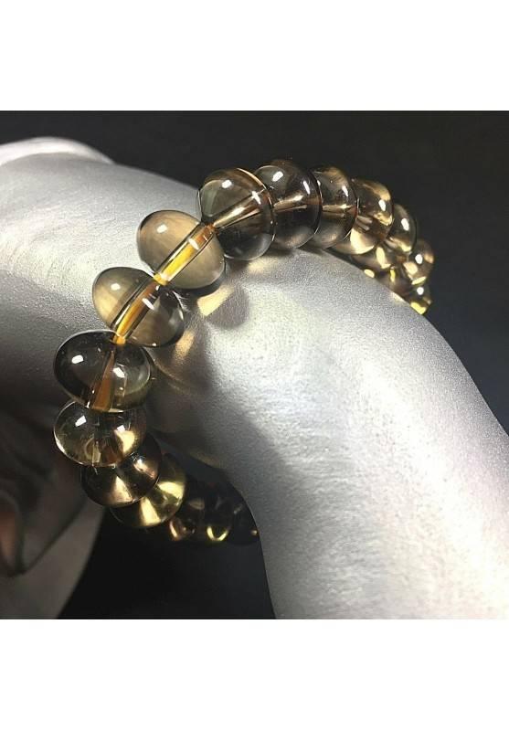 Smoked QUARTZ High Quality Bracelet Quality Crystal Healing Chakra Reiki A+-1