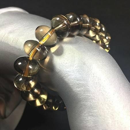 Smoked QUARTZ High Quality Bracelet - CAPRICORN SAGITTARIUS Crystal Healing Chakra-1