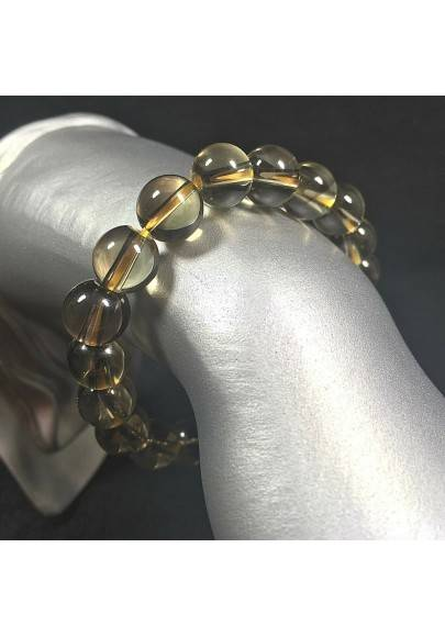 Smoked QUARTZ Spherical Beads Bracelet - CAPRICORN SAGITTARIUS Zodiac A+-1