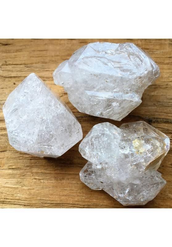 QUARZO ELESTIALE Biterminato Diamante IALINO Grezzo GRANDE Cristalloterapia Zen-1