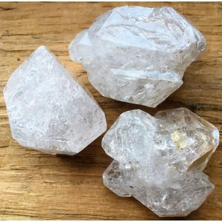 ELESTIAL QUARTZ Double Terminated Diamond HYALINE Rough BIG Crystal Healing Zen-1