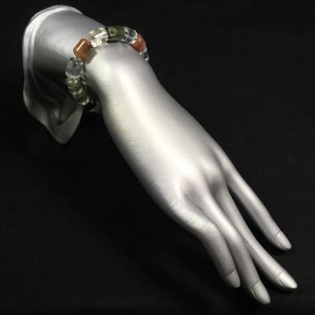 Rutilated Quartz Carnelian & LODOLITE Quartz Bracelet Crystal Healing Zen A+-2