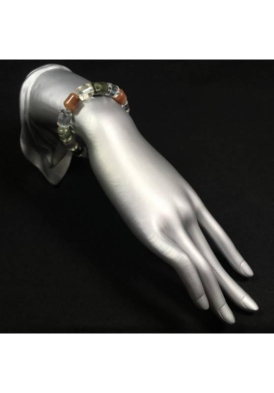 Bracelet in Rutilated Quartz Carnelian & LODOLITE Quartz Crystal Healing Reiki A+-2