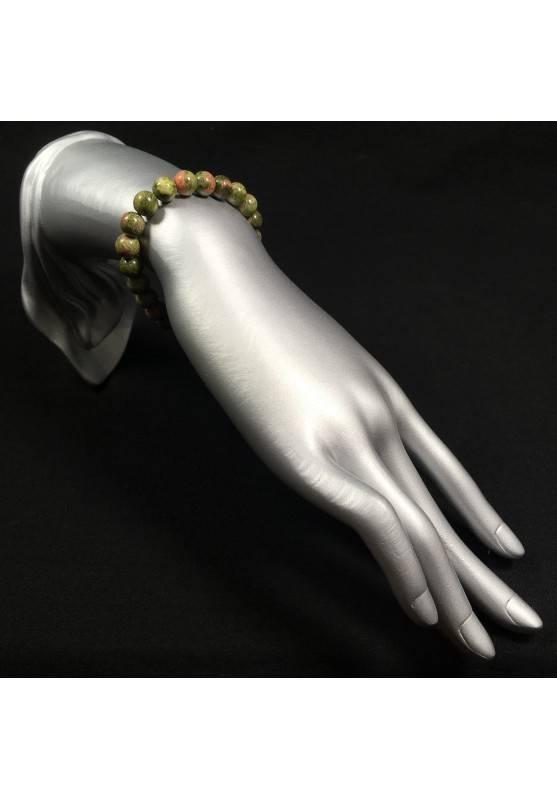 UNAKITE JASPER Tibetan Mala Bracelet Crystal Healing - SCORPIO Zodiac A+-2