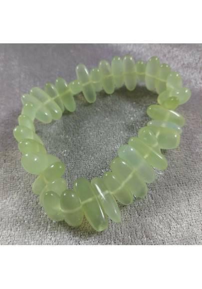 Braccialetto in GIADA Verde Naturale Pietre Lucidate Cristalloterapia Qualità A+-1