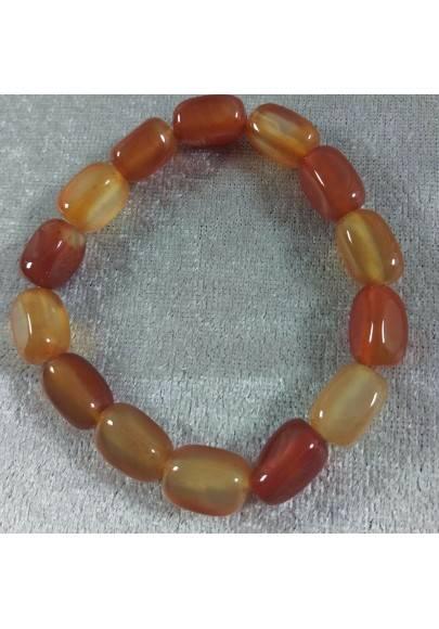 Braccialetto in Burattati di CORNIOLA Bracciale - Red Agate Carnelian Bracelet-1