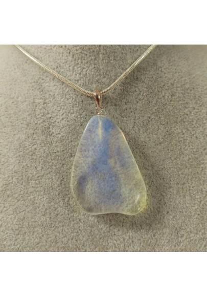 Ciondolo in Opalite su ARGENTO 925 Collana Gioiello Minerali Charms Chakra Reiki-1