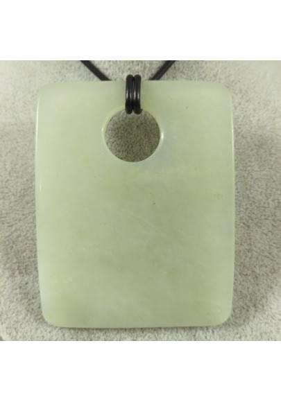 Ciondolo Gemma di Giada GRANDE Collana Charms Etnico Pendente Cristalloterapia-1