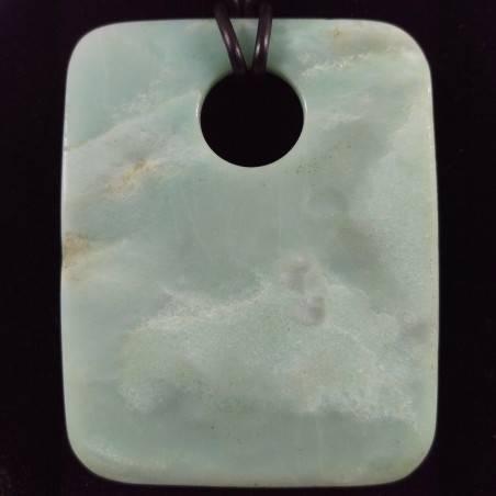 Pendant Gemstone in JADE Sky Blue BIG Necklace Charms Etnico Crystal Healing-1