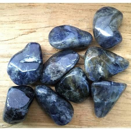 Burattato IOLITE Blu Collezionismo Cristalloterapia Chakra Minerali Qualità A+-1