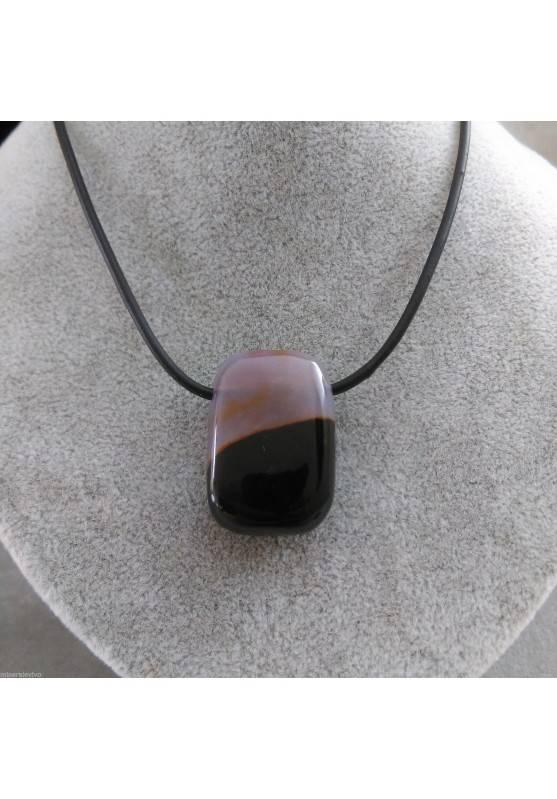 AGATE PENDANT Gemstone - Zodiac sign: GEMINI Crystal Healing Zodiac Stone-1