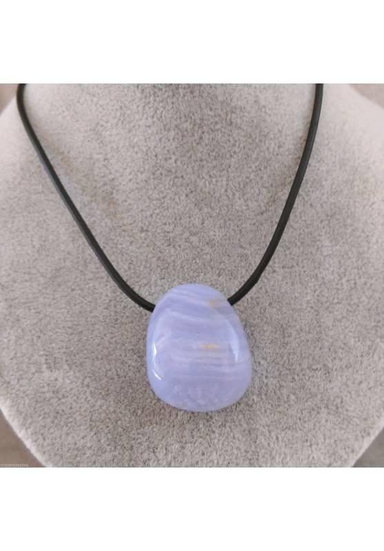 Blue CHALCEDONY Pendant Bead - CANCER SAGITTARIUS MINERALS Crystal Healing Zen-1