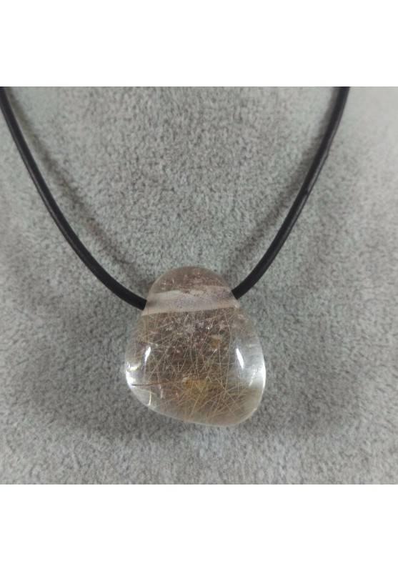 QUARTZ RUTILATED Pendant Bead EXTRA! - GEMINI VIRGO Charm Necklace Charm-1