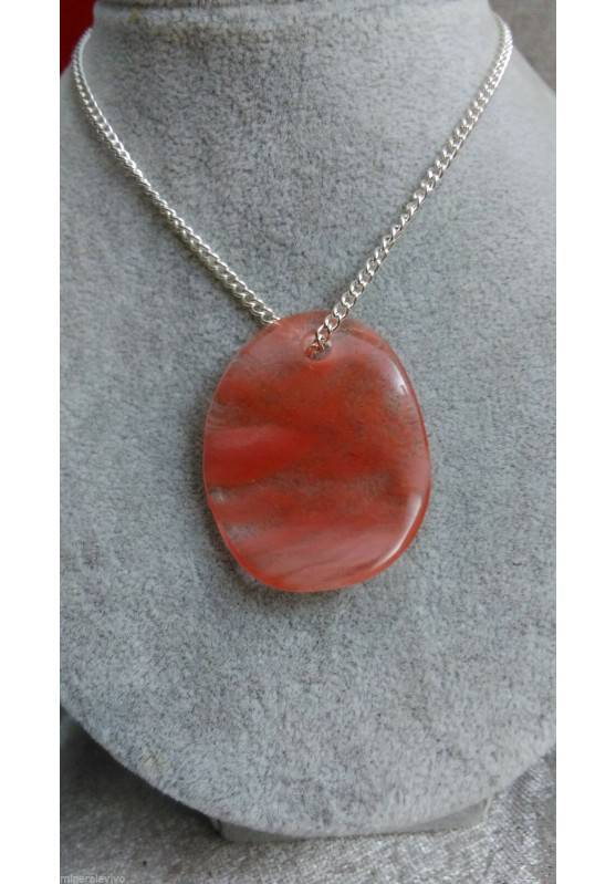 Leaf in Rose Quartz Pendant Necklace Crystal Healing 4° Chakra LOVE Reiki-1