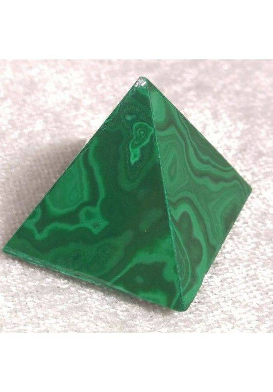 MALACHITE PYRAMID from Congo MID Size MINERALS Chakra Crystal Healing Reiki A+−3
