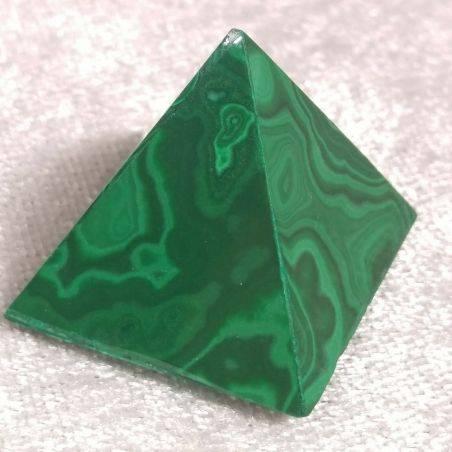 Piramide in MALACHITE del Congo MEDIA Minerali Chakra Cristalloterapia Reiki A+-3