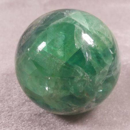BIG Sphere in Rainbow Green Fluorite Crystal MINERALS Ball Stone Rare-1