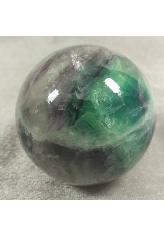 BIG Sphere in Rainbow Green Purple Fluorite Crystal MINERALS Ball Stone Rare-1
