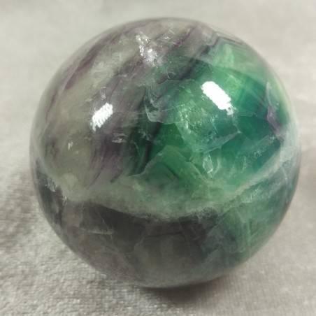Sfera GRANDE di Fluorite Mista Verde Viola Cristallo Minerali Palla Pietra RARA-1