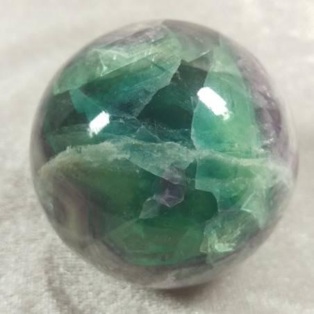 BIG Sphere in Rainbow Green Purple Fluorite Crystal MINERALS Ball Stone Rare-2