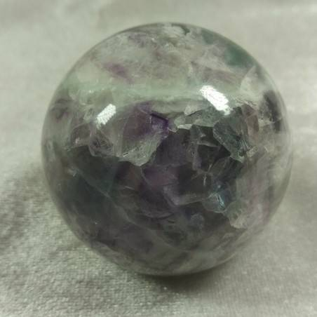 BIG Sphere in Rainbow Green Purple Fluorite Crystal MINERALS Ball Stone Rare-4