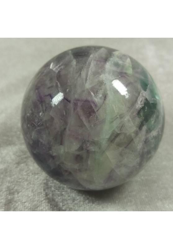 BIG Sphere in Rainbow Green Purple Fluorite Crystal MINERALS Ball Stone Rare-5