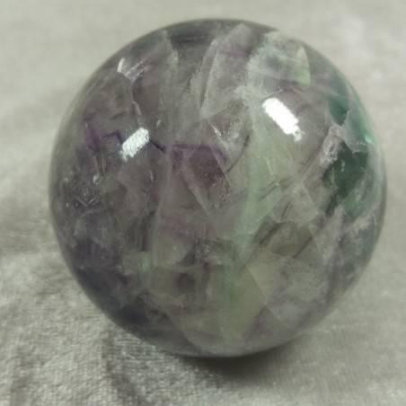 Sfera GRANDE di Fluorite Mista Verde Viola Cristallo Minerali Palla Pietra RARA-5