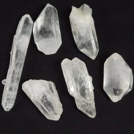 Double Terminated Clear QUARTZ Crystal Crystal Healing MINERALS A+ 27-38g-2