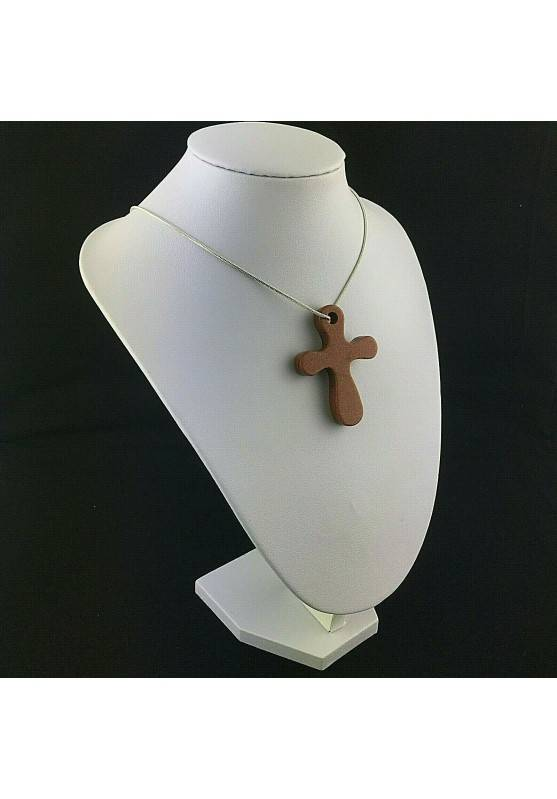 Handmade Cross Pendant in Red SUN STONE Aventurine Gift Idea Jewel−3