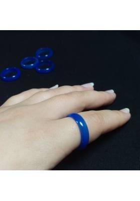 * Blue AGATE Ring * Jewel Crystal Healing Chakra-4