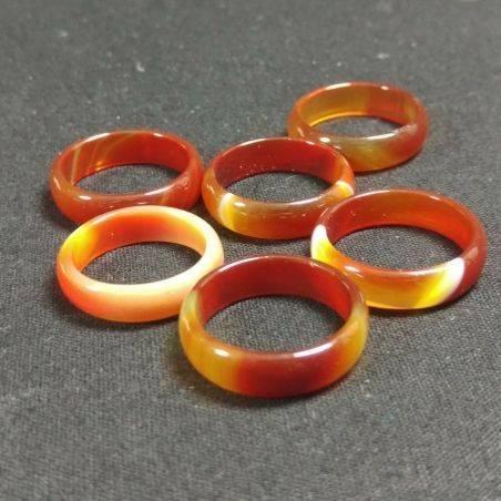 * Natural CARNELIAN AGATE Ring * Jewel Crystal Healing Chakra-2
