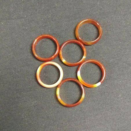 * Natural CARNELIAN AGATE Ring * Jewel Crystal Healing Chakra-4