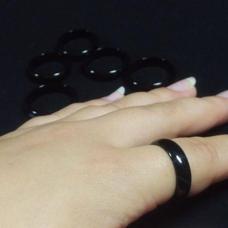 * Black AGATE Ring * Fede Jewel Crystal Healing Chakra-2