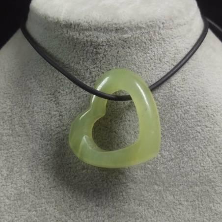 Jade Heart Pendant MINERALS Stone Gift Idea Love Jewel Bijou Chakra Minerals-1
