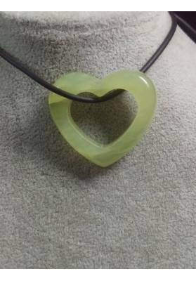 Jade Heart Pendant MINERALS Stone Gift Idea Love Jewel Bijou Chakra Minerals−3