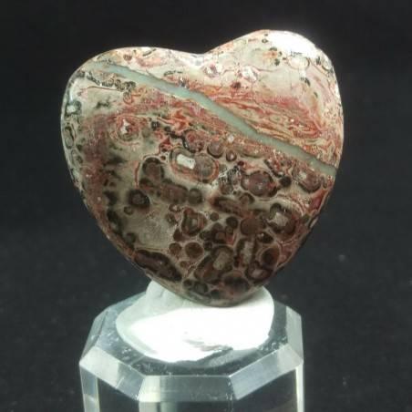 CUORE in DIASPRO OCEANICO Orbicolare Minerali Amore Regalo Chakra San Valentino-1