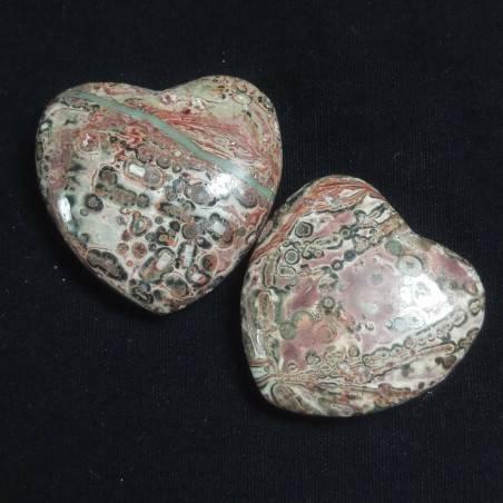 CUORE in DIASPRO OCEANICO Orbicolare Minerali Amore Regalo Chakra San Valentino-2