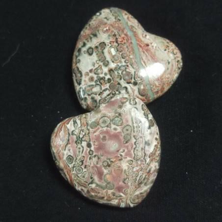 CUORE in DIASPRO OCEANICO Orbicolare Minerali Amore Regalo Chakra San Valentino-3