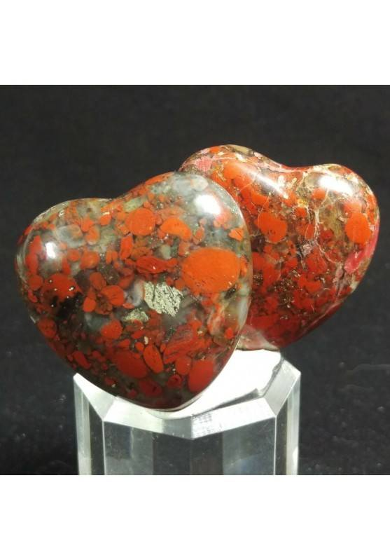 HEART in RED Brecciated JASPER MINERALS LOVE Gift Idea Chakra VALENTINE'S DAY-1