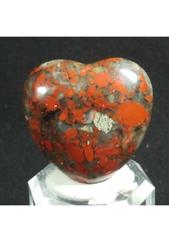 HEART in RED Brecciated JASPER MINERALS LOVE Gift Idea Chakra VALENTINE'S DAY-2