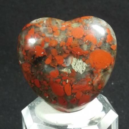 CUORE in DIASPRO ROSSO Brecciato Minerali Amore Regalo Chakra San Valentino-2