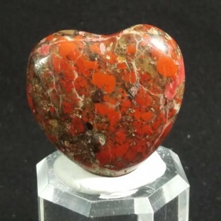 CUORE in DIASPRO ROSSO Brecciato Minerali Amore Regalo Chakra San Valentino-3
