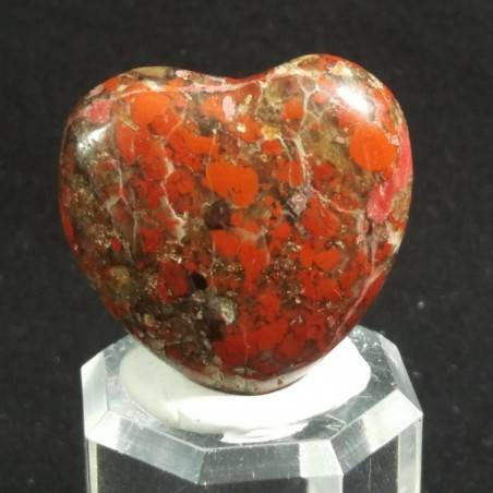 HEART in RED Brecciated JASPER MINERALS LOVE Gift Idea Chakra VALENTINE'S DAY−3