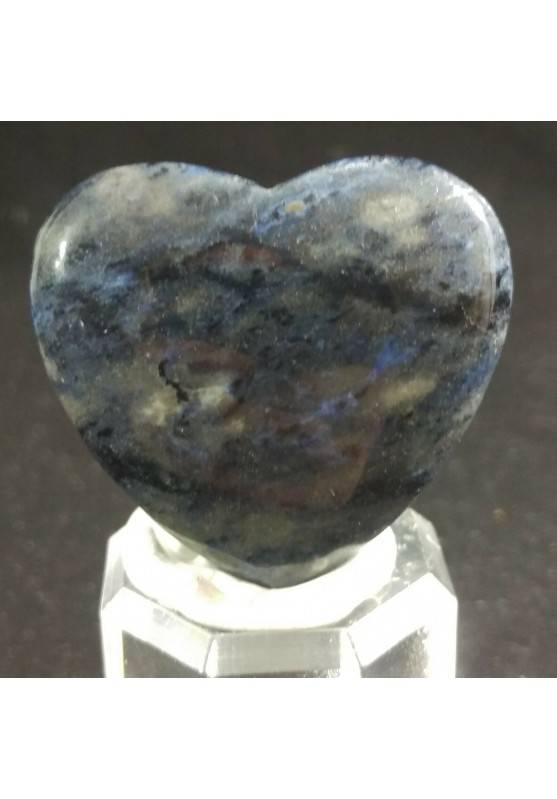 HEART in Blue Sodalite MINERALS LOVE Gift Idea Chakra VALENTINE'S DAY Reiki−3