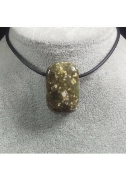 Pendant Gemstone in Orbicular Ocean JASPER Necklace Chain Jewel Gift Idea-1