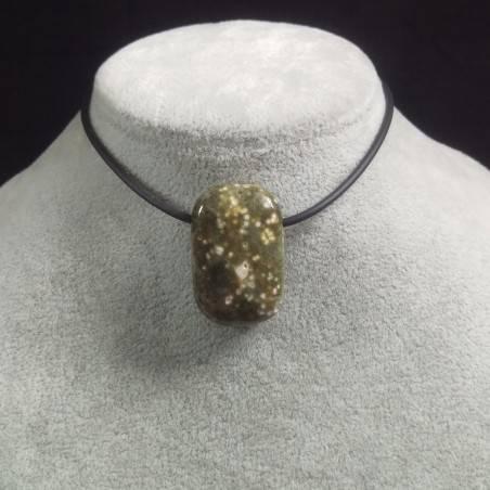 Pendant Gemstone in Orbicular Ocean JASPER Necklace Chain Jewel Gift Idea-2