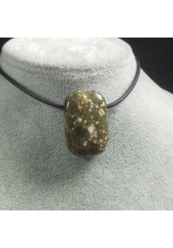 Pendant Gemstone in Orbicular Ocean JASPER Necklace Chain Jewel Gift Idea−3